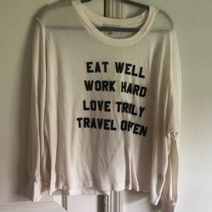 Wild fox couture white sweater